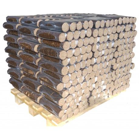 Buches de bois densifié par palette de 117 packs
